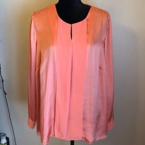 1X Coldwater Creek lined coral blouse (16W-18W) ❤️
